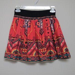 Flying Tomato Viscose and Linen Mini Skirt Small